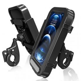 Support de téléphone pour moto et vélo étanche écran 4,7 à 6,8 pouces montage sur guidon rapide