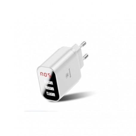 Chargeur Baseus 3 port charge rapide 3,4A indicateur de chargeur