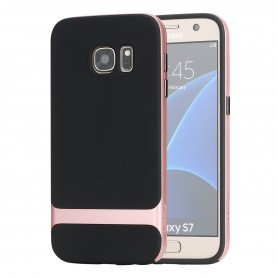 Coque Galaxy S7 ROCK contour bumper rose Royce series