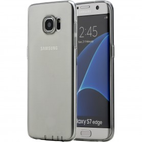 Coque Galaxy S7 Edge ROCK dos transparent noir ultrathin TPU