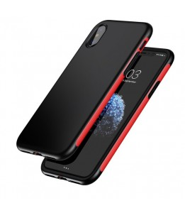 Coque iPhone X Baseus Protection TPU + TPE Dropproof Rouge