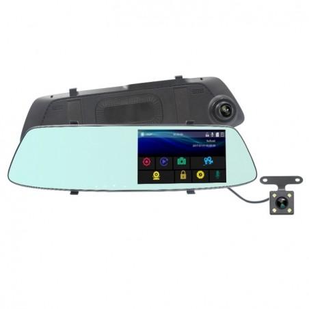 Retroviseur multimedia camera avant arriere 720P HD enregistrement continue