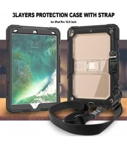 Coque Anti-choc pour Apple iPad Pro 10,5 - Housse de Protection Antichoc Étui en Plastique de Silicone Hybrid Case Cover ave...