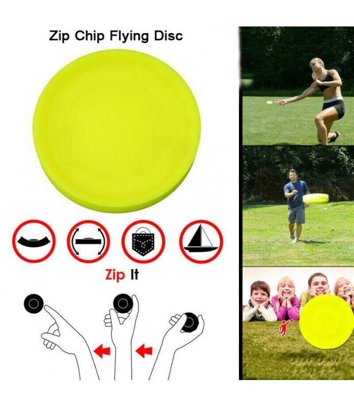 ZIP CHIP American Creative Mini Frisbee UFO Poche Flexible Jeu Disque Volant