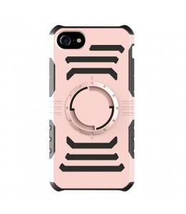 Coque Pour iPhone 8 & 7 multi-fonction brassard, détachable et aimant, Special coque Uber Eat / Delivroo (Rose)