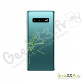 Réparation vitre arriere Samsung Galaxy S10 Plus SM-G975